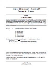 Senior Elementary Version B Booklet