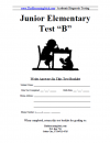 Junior Elementary Version B Booklet