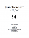 Senior Elementary Version A Booklet