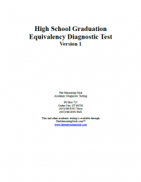 HSGED Version 1 Booklet